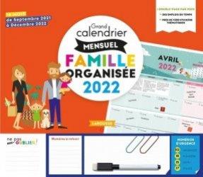 Grand calendrier mensuel de la famille organisée