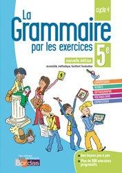 La couverture et les autres extraits de La grammaire par les exercices 3e