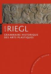 Grammaire historique des arts plastiques. Volonté artistique et vision du monde