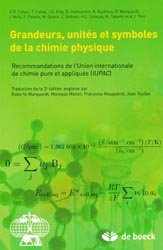 Grandeurs, Unités et Symboles de la Chimie Physique