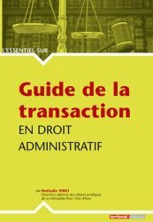 Guide de la transaction en droit administratif
