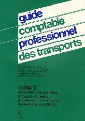 Guide comptable professionnel des transports - Tome 2