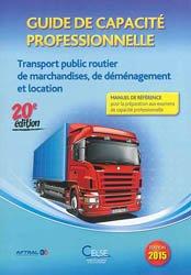 La couverture et les autres extraits de Guide de capacite professionnelle Organisateur commissionnaire de transport 2017