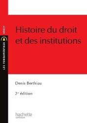 Histoire du droit et des institutions. 2e édition