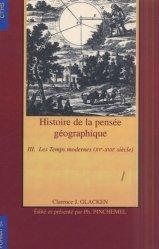 Histoire de la pensée géographique 3 Les temps modernes (XVème-XVIIème siècle)
