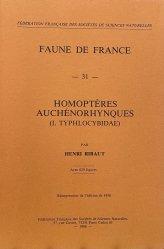 Homoptères auchénorhynques (I.Typhlocybidae)