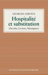 Hospitalité et substitution