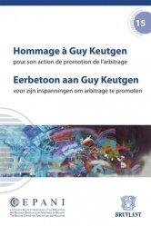 Hommage à Guy Keutgen pour son action de promotion de l'arbitrage