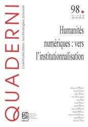 Humanités numériques : vers l'institutionnalisation