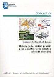 Hydrologie des milieux urbains pour la maîtrise de la pollution des eaux et des sols