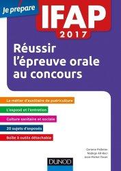 IFAP 2017 Réussir l'épreuve orale au concours Auxiliaire de puériculture
