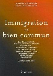 Immigration et bien commun
