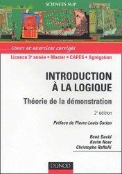 Introduction à la logique Théorie de la démonstration