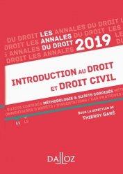 La couverture et les autres extraits de Introduction au droit et droit civil. Méthodologie & sujets corrigés, Edition 2019