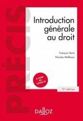 Introduction générale au droit - 12e ed.