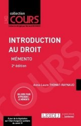 Introduction au droit - memento 2eme ed