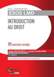 Introduction au droit. 21 exercices corrigés, 4e édition