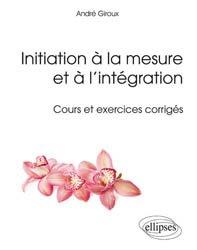Initiation à la mesure et à l'intégration
