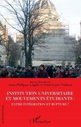 Institution universitaire et mouvements étudiants : entre intégration et rupture