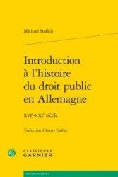 La couverture et les autres extraits de Introduction à l'histoire du droit public en Allemagne. XVIe-XXIe siècle