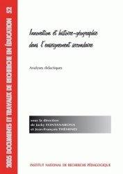 Innovation et histoire-géographie dans l'enseignement secondaire
