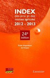 Index des prix et des normes agricoles 2012-2013