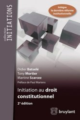 Initiation au droit constitutionnel. 2e édition