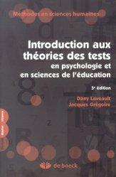 Introduction aux théories des tests en psychologie et sciences de l'éducation