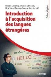 Introduction à l'acquisition des langues étrangères