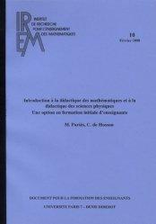 Introduction à la didactique des mathématiques et à la didactique des sciences physiques