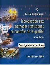 Introduction aux méthodes statistiques en contrôle de la qualité