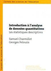 Introduction à l'analyse de données quantitatives