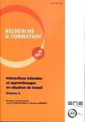 Interactions tutorales et apprentissages en situation de travail