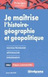Je maîtrise l'histoire géographie géopolitique pour HEC