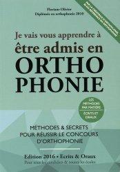La couverture et les autres extraits de Concours orthophoniste 2017