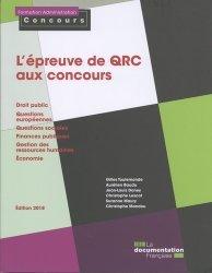 L'épreuve de QRC aux concours. Edition 2018