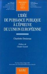 L'idée de puissance publique à l'épreuve de l'Union européene