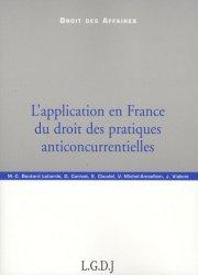 L'application en France du droit des pratiques anticoncurrentielles
