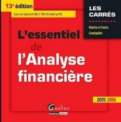 L'essentiel de l'analyse financière 2015-2016