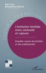 L'institution familiale entre continuité et ruptures