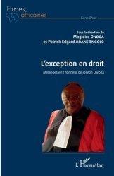 L'exception en droit