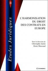 L'harmonisation des contrats en Europe