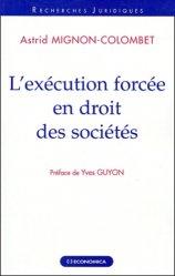 L'exécution forcée en droit des sociétés