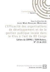L'Efficacité des organisations de développement et de la gestion publique locale dans le Kivu à l'est de RD Congo