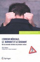 L'erreur médicale, le burnout et le soignant