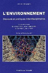 L'environnement Discours et pratiques interdisciplinaires