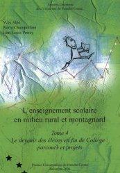 L'enseignement scolaire en milieu rural et montagnard