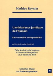 L'ambivalence juridique de l'humain