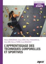 L'apprentissage des techniques corporelles et sportives