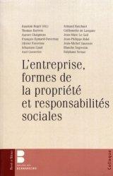 L'entreprise, formes de la propriété et responsabilités sociales